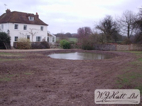Butyl lined pond before