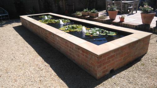 Formal brick pond