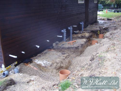 Foul drainage new build