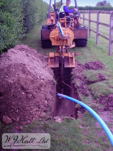 Our Ditch Witch mole plough