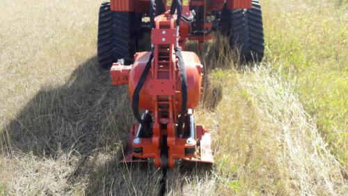 Surface disruption is minimal when mole ploughing