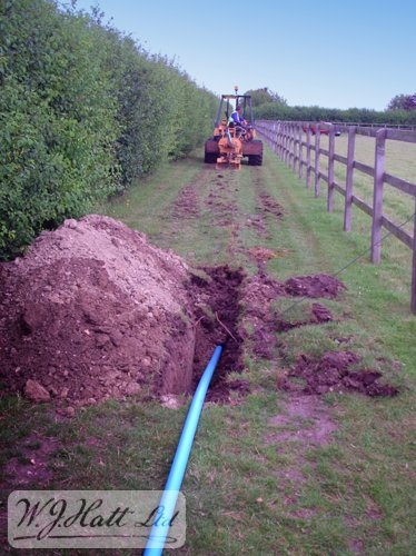 Very little above ground disruption occurs when mole ploughing