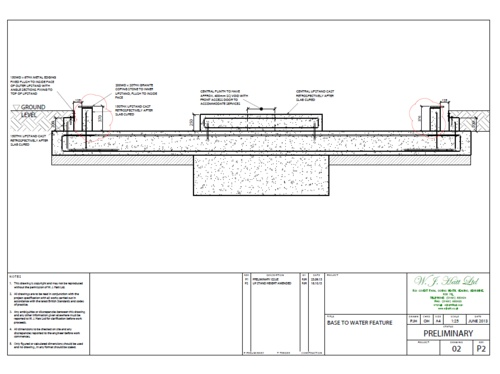 Structural designs for water feature